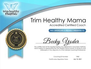 Becky's certificate 2020-2021